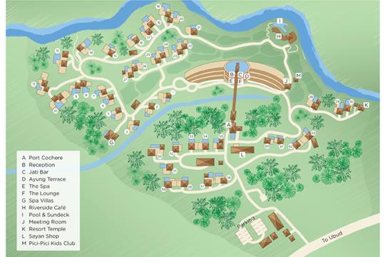 フォーシーズンズ リゾート バリ アット サヤン リゾートマップ(イメージ)