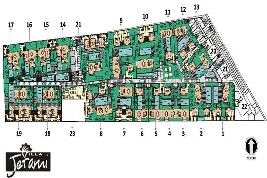 ヴィラ ジェラミ 敷地マップ(イメージ)
